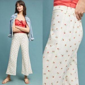 ANTHRO | Feather Bone Talese Wide Leg Cherry Pants